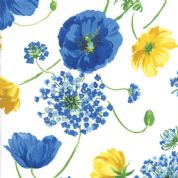 Moda - Summer Breeze 2019 - 7068 - Poppies Agapanthus on Off White - 33440 11 - Cotton Fabric